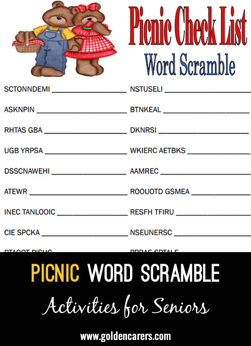 Unscramble the letters to reveal the answers!